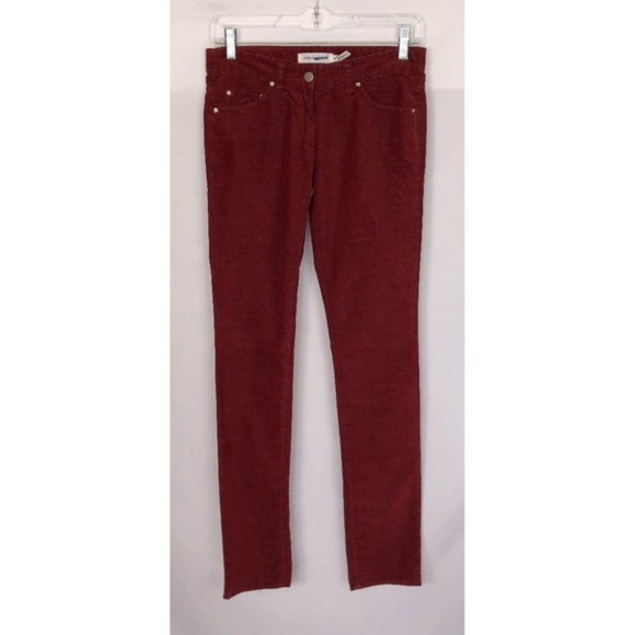 dbba2ee29a Isabel Marant Pants | Etoile Red Corduroy Skinny | Poshmark